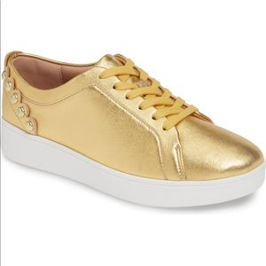 FitFlop most comfy leather gold shoes